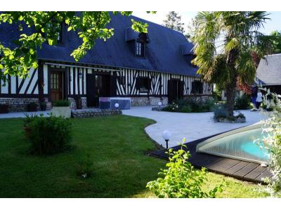 Ancienne grange Normande avec piscine et maison d' amis., pont audemer